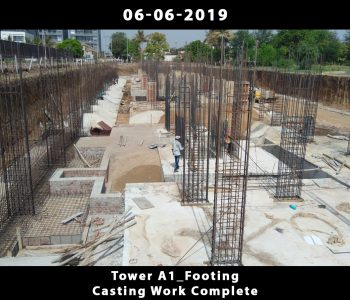 Tower A1_Footing Casting Work Complete