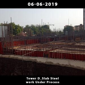 Tower D_Slab Steel work Under Process