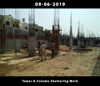 Tower A-Column Shuttering Work