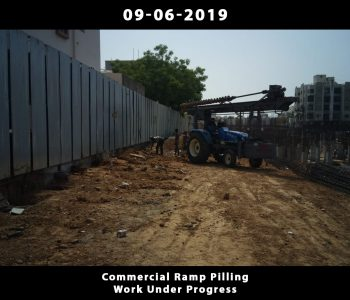 Commercial Ramp Pilling Work Under Progress