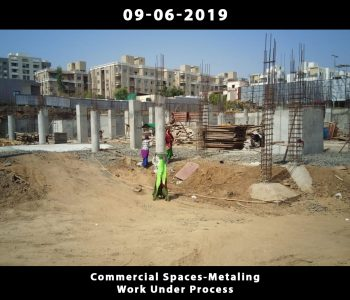 Commercial Spaces-Metaling Work Under Process