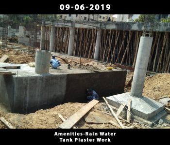 Amenities-Rain Water Tank Plaster Work