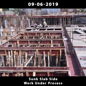 Sunk Slab Side Work Under Process