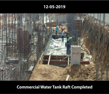Commercial Water Tank Raft Completed