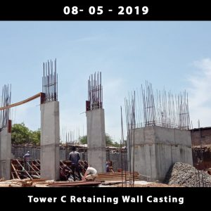 Tower C Retaining Wall Casting