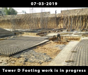 Tower D Footing work is in progress