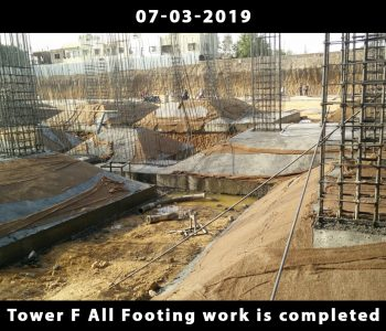 Tower F All Footing work is completed