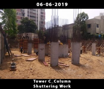 Tower C_Column Shuttering work